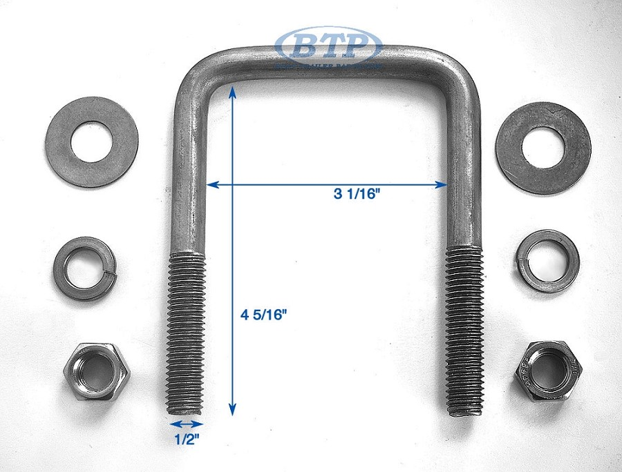 Stainless steel u bolt inch